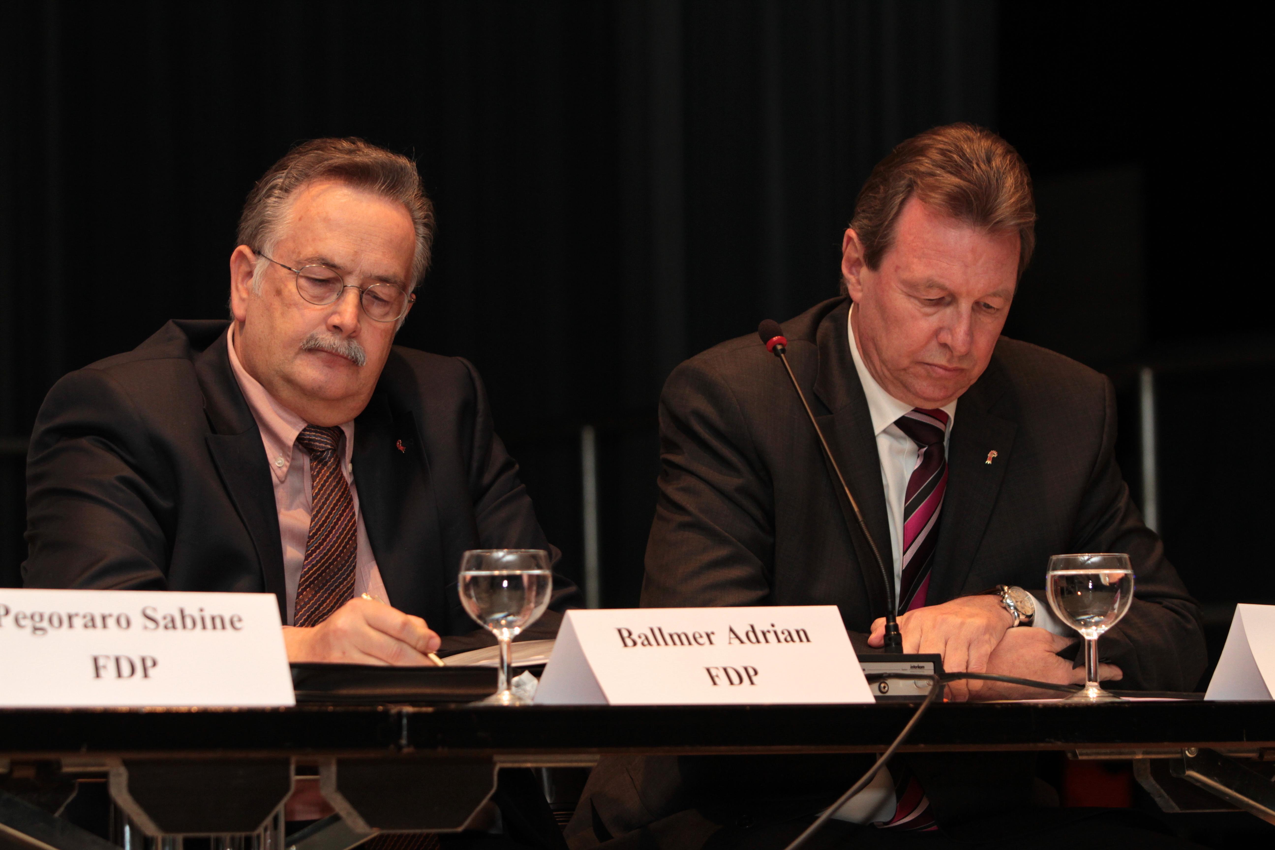 Wohin mit dem Baselbiet? Adrian Ballmer (l.) und Peter Zwick (r.)